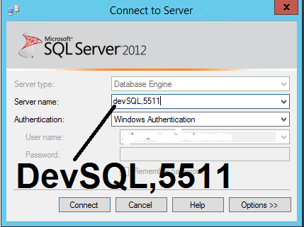 SQLDifferentPort