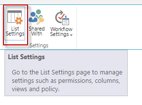 Click on List Settings